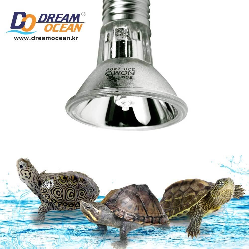 노모이펫 수생 거북이 전용 UVB 3.0 50w 조명 램프 (L 6.7x5cm)
