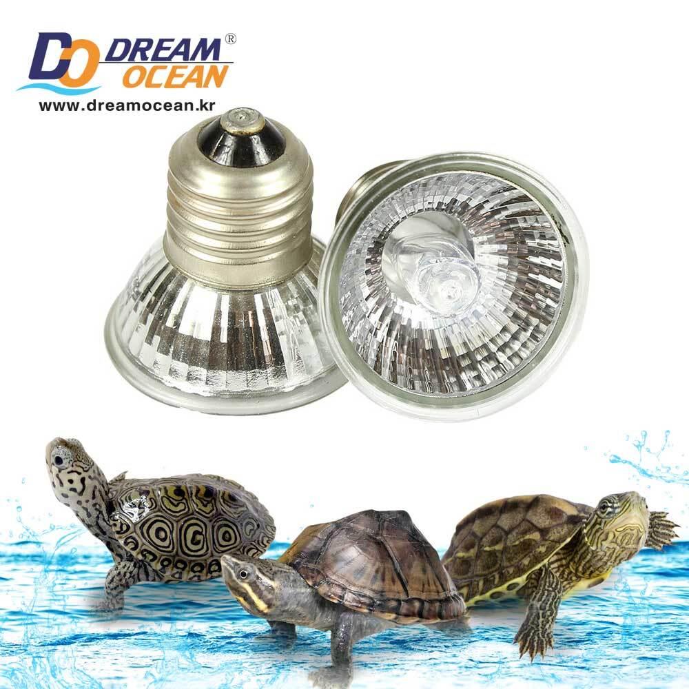 노모이펫 수생 거북이 전용 UVB 3.0 50w 조명 램프 (S 4.8x5cm)