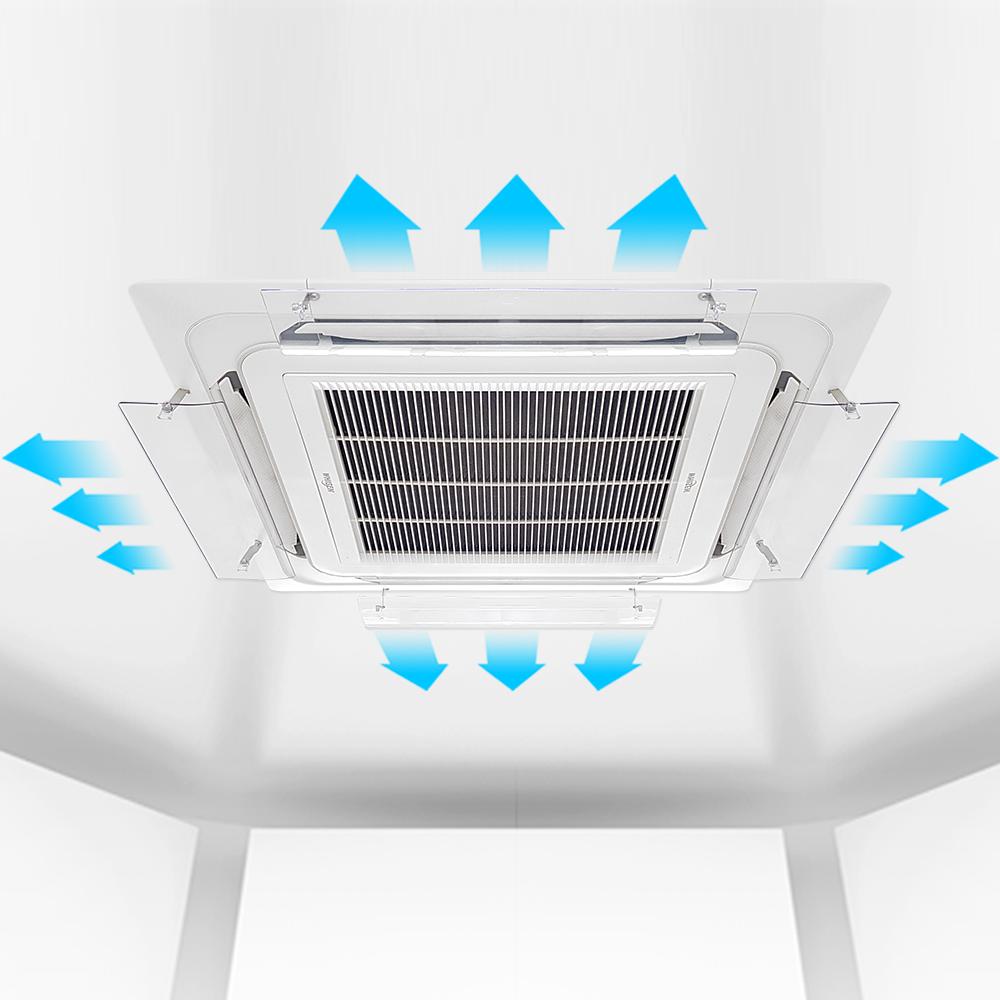 에어컨바람막이 천장형 4way/시스템에어컨 윈드바이저