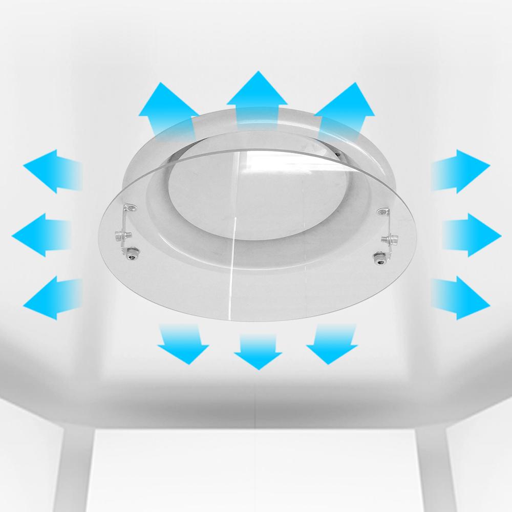 에어컨바람막이 원형디퓨져용34cm/천장형 윈드바이저