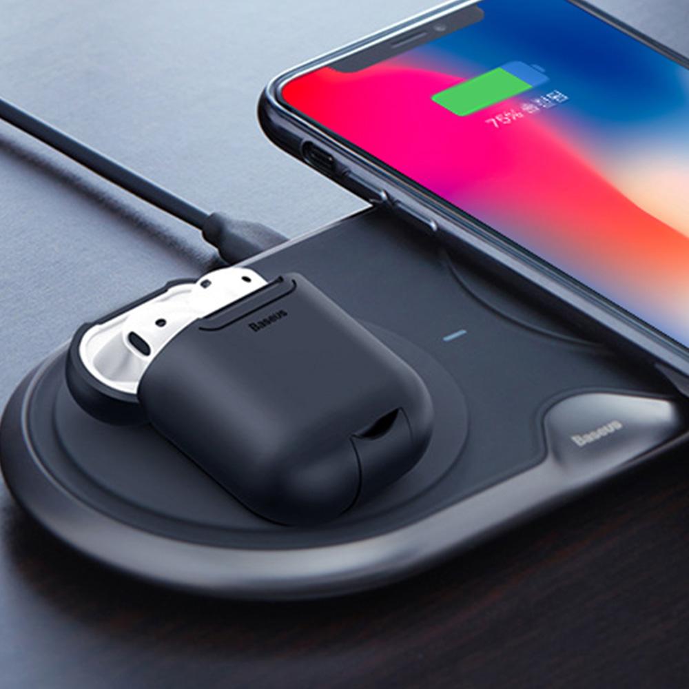 에어팟 듀오 에어팟 무선 충전 실리콘 케이스/보관함