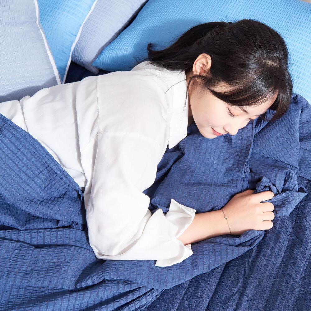 시어서커 홑이불/냉장고이불 여름 침대 얇은 리플 [제작 대량 도매 로고 인쇄 레이저 마킹 각인 나염 실크 uv 포장 공장 문의는 네이뽕]