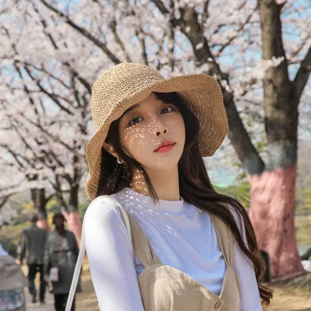 밀짚 플로피 와이어햇/버킷햇 챙넓은 여름 여자 모자 [제작 대량 도매 로고 인쇄 레이저 마킹 각인 나염 실크 uv 포장 공장 문의는 네이뽕]