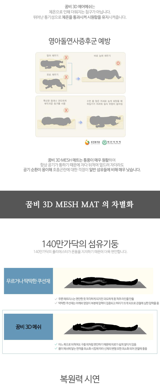 3D 매쉬 아기쿨매트-논슬립 실리콘 코팅 120x80cm - 꿈비, 99,000원, 패브릭/침구, 침구세트