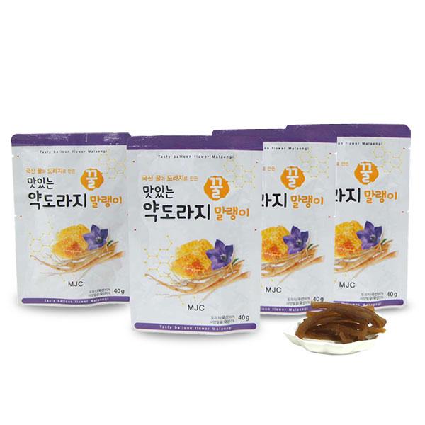 채원몰,[GRIGO] 국산 맛있는 꿀 약도라지 말랭이 40gx4봉