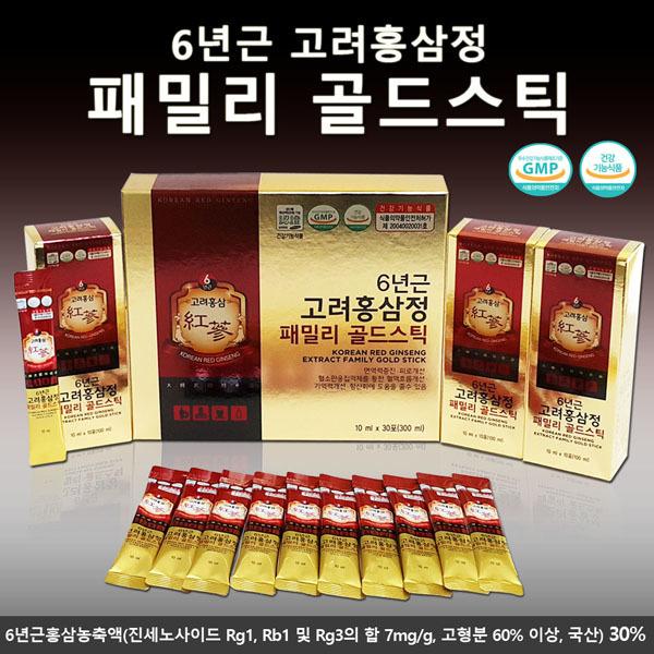 6년근 고려 홍삼정 패밀리골드스틱 10g x 30포