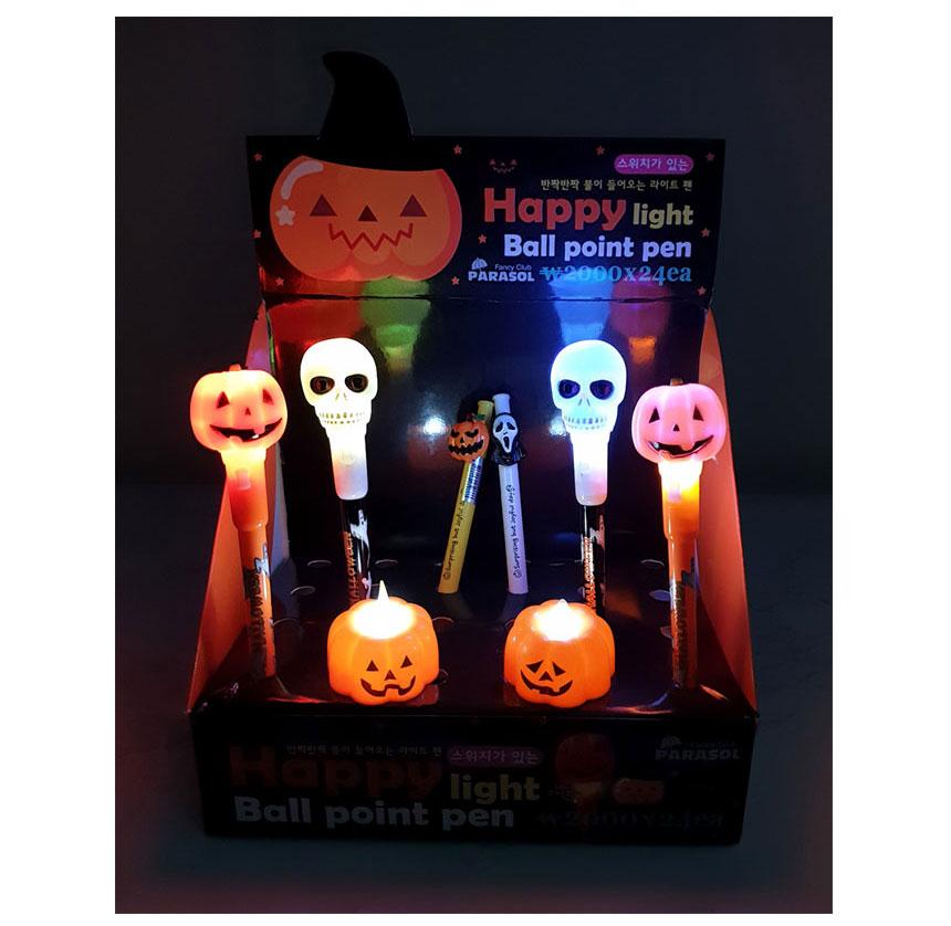 할로윈데이소품 볼펜 LED미니캔들 - 파라솔팬시, 500원, 파티용품, 할로윈 파티