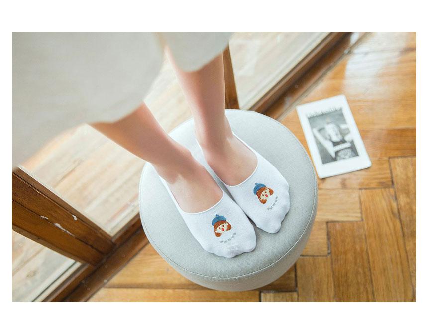 캐릭터 페이크삭스 덧신양말 - 파라솔팬시, 3,000원, 여성양말, 페이크삭스