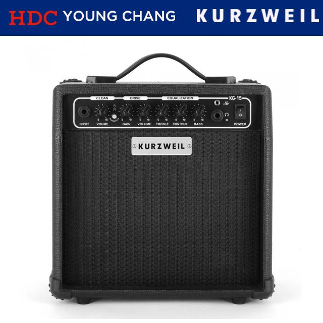 연습용 똘똘이 일렉 기타 앰프 KG-15  커즈와일
