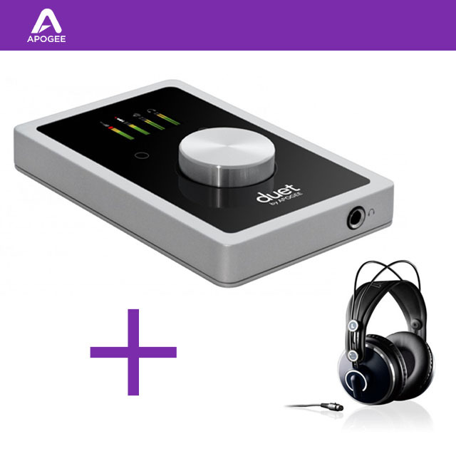 APOGEE Duet 오디오인터페이스 AKG K271 MKII 모니터링 헤드폰 증정