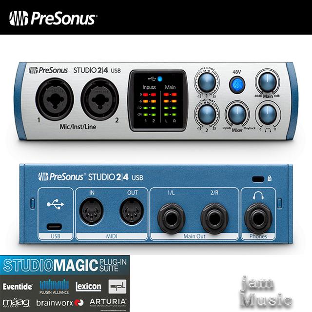 Presonus Studio24 USB-C 오디오인터페이스 스튜디오24
