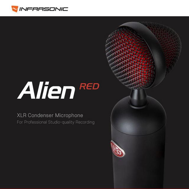 INFRASONIC 인프라소닉 UFO Alien RED - XLR 프로페셔널 스튜디오 콘덴서 마이크로폰
