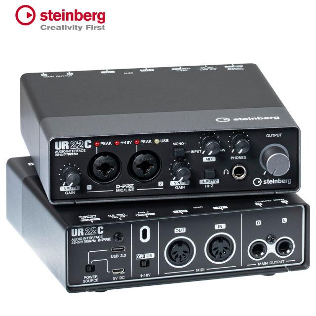 Steinberg UR22C USB C 오디오 인터페이스 DSP 지원