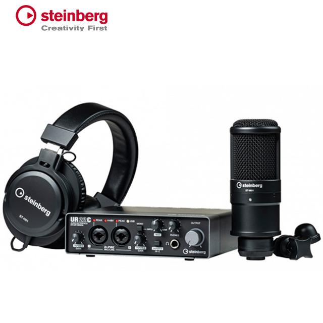 Steinberg UR22C USB C Recording Pack 오디오 인터페이스 DSP 지원