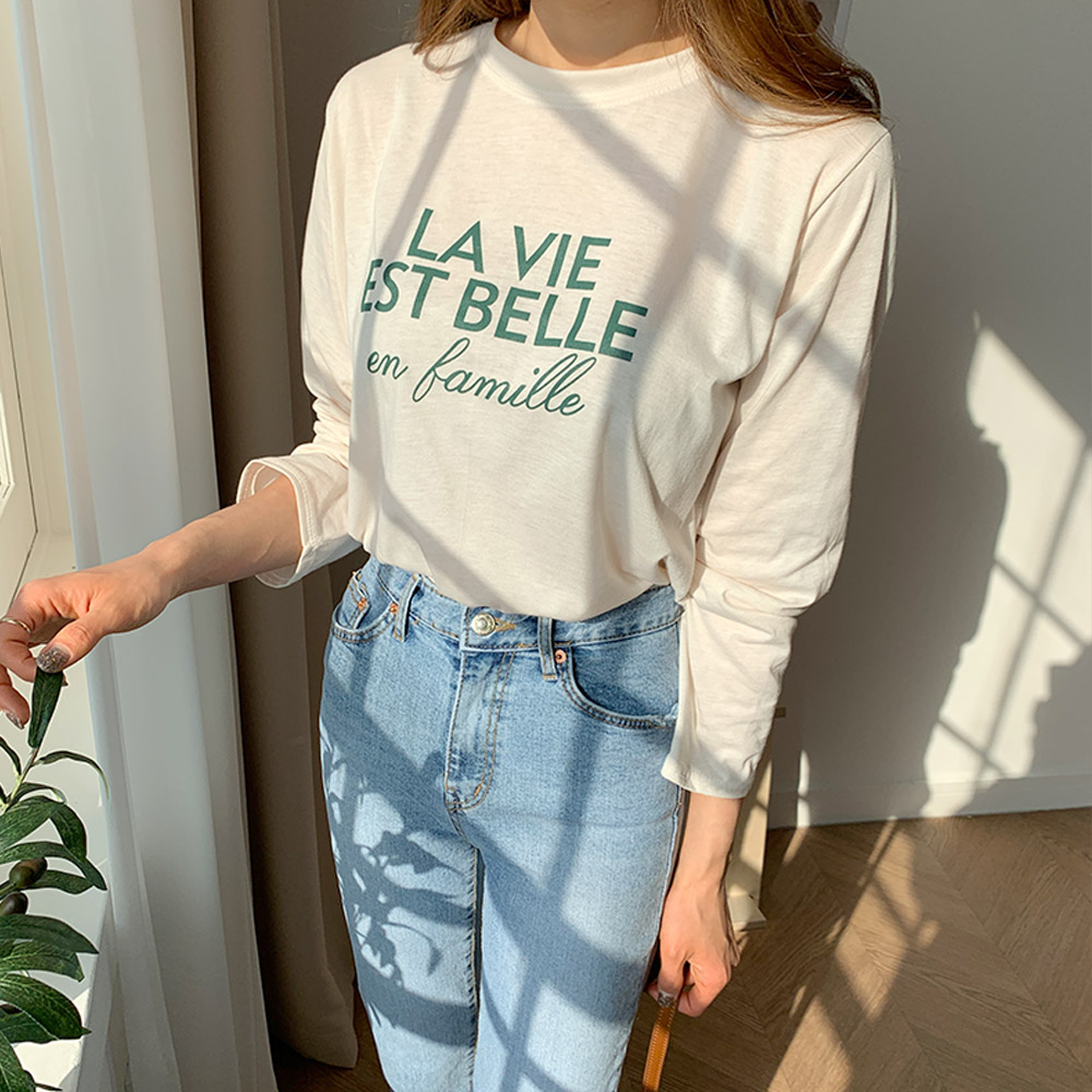 (국내배송) 라스벨 레터링 티셔츠