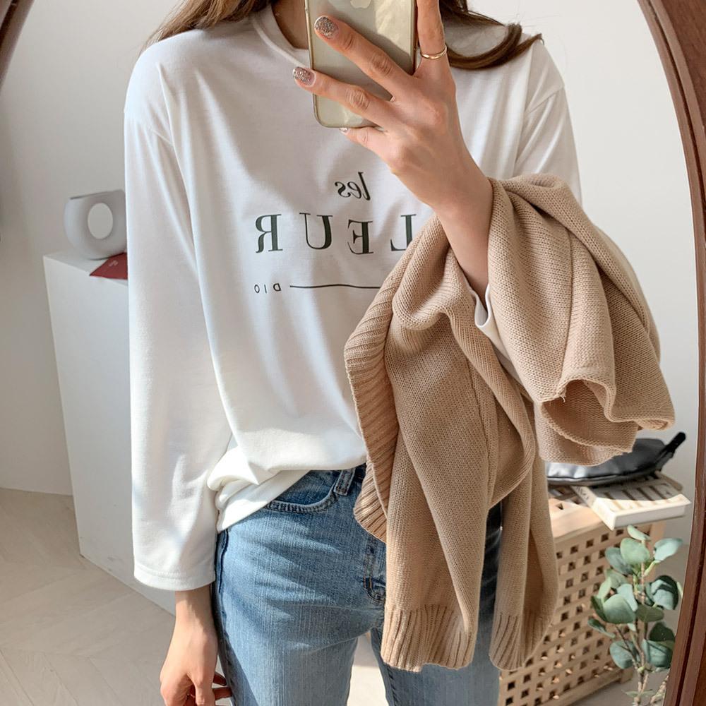기본 여성 영어 프린팅 티셔츠
