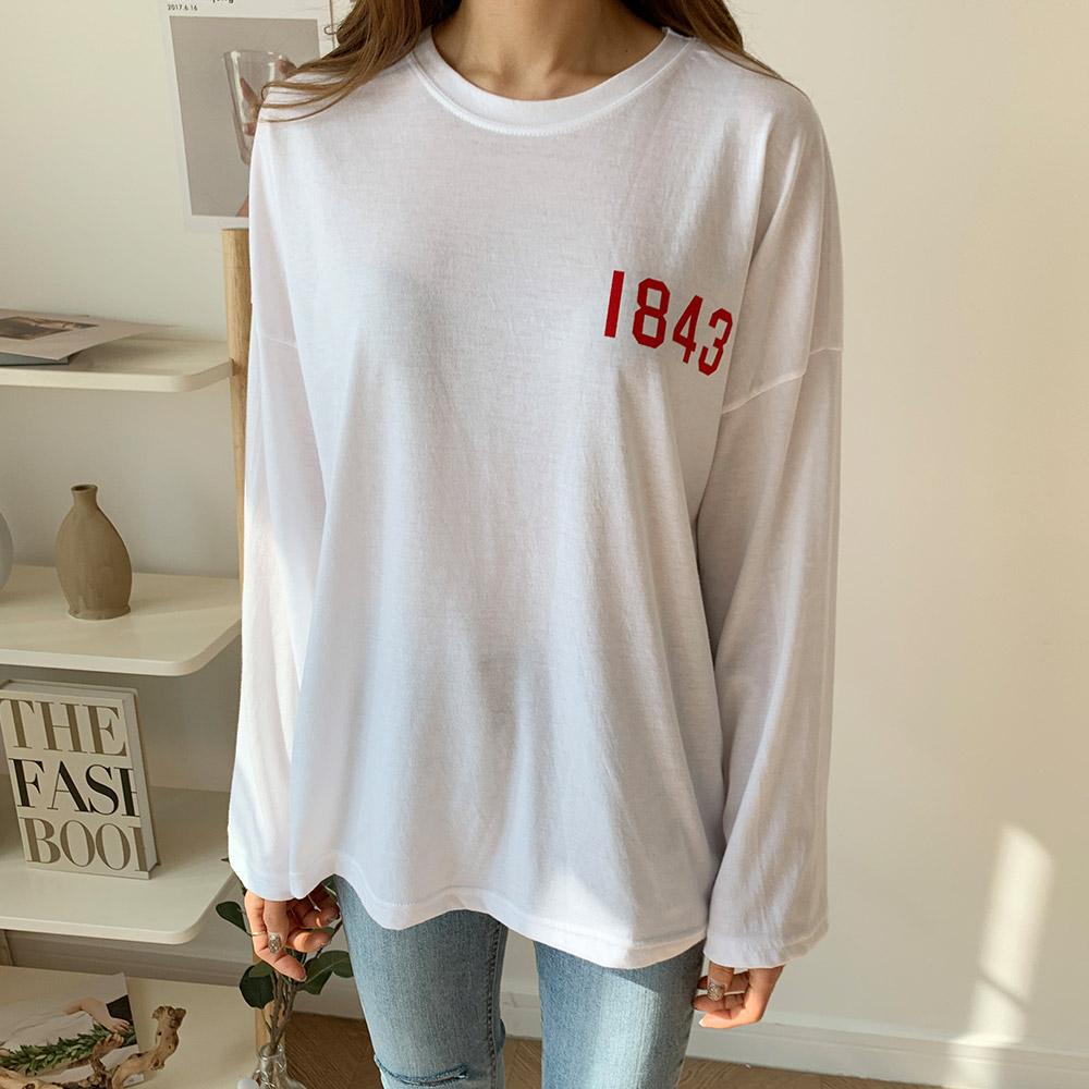 프린팅 나염 백 레터링 영어 티셔츠