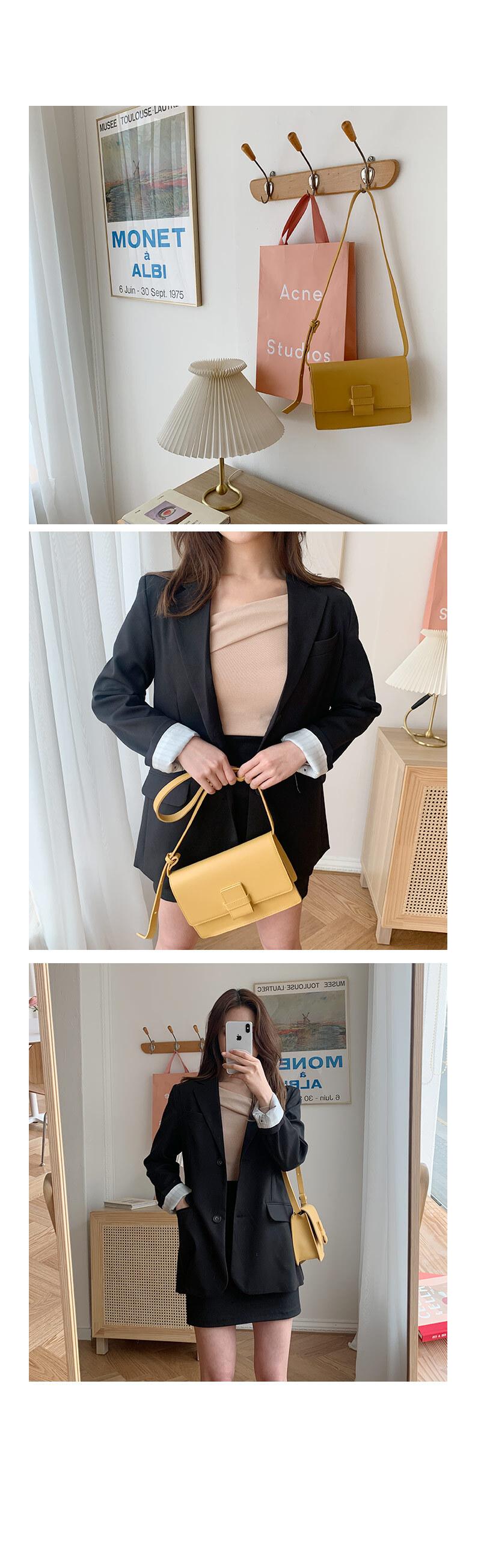 겟잇미 기본 여성 벨트 스퀘어 숄더백 - 겟잇미, 67,200원, 크로스백, 인조가죽크로스백