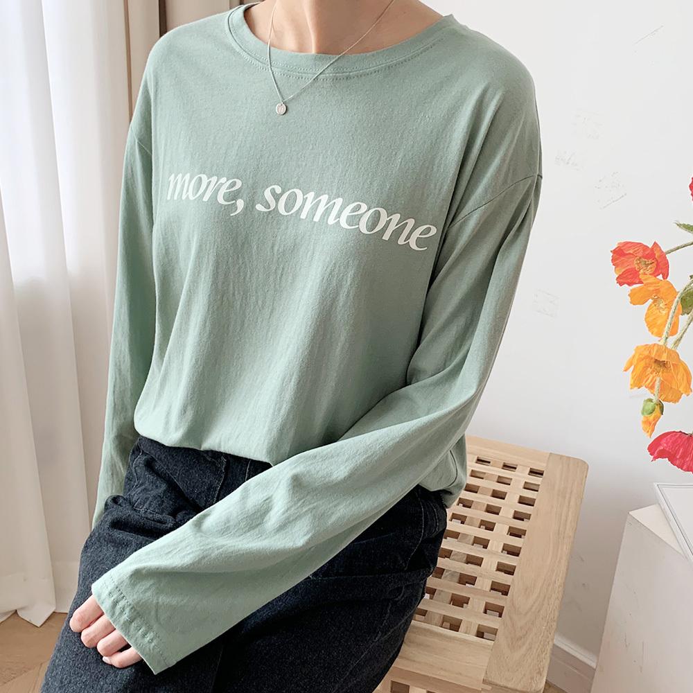 감성 여성 캐주얼 나염 긴팔 티셔츠