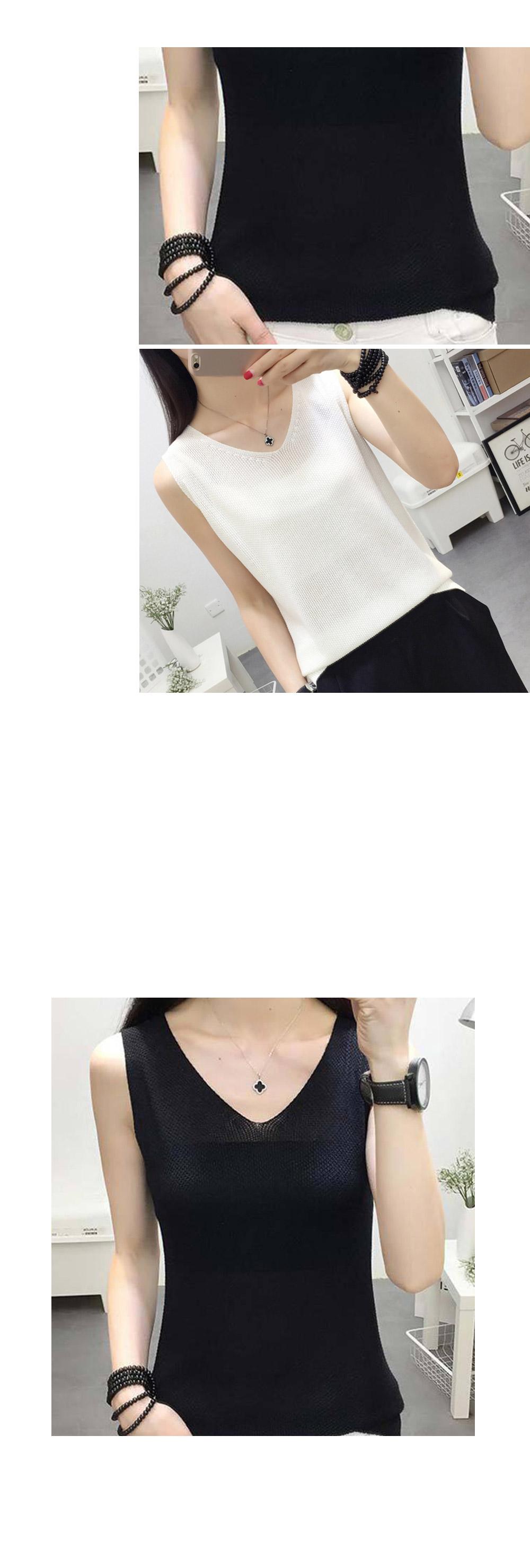겟잇미 민소매 나시 브이넥 매쉬 나시 - 겟잇미, 10,300원, 상의, 민소매티셔츠