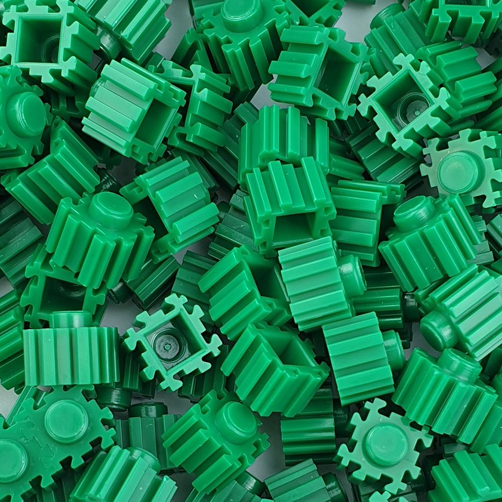 퍼즐블럭 8mm 초록색 500개