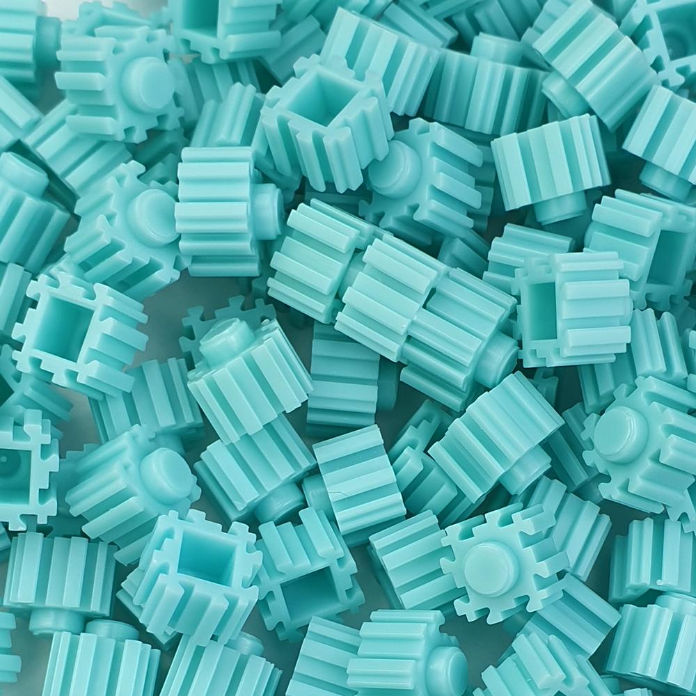 퍼즐블럭 8mm 하늘색 500개