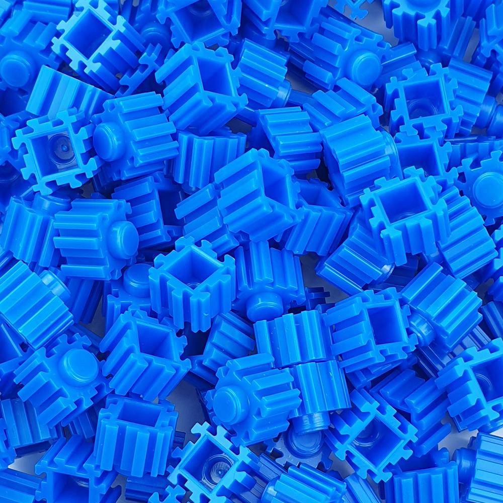 퍼즐블럭 8mm 파랑색 500개