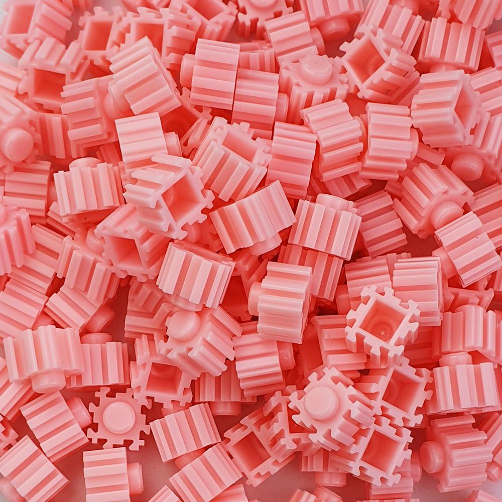 퍼즐블럭 8mm 핑크색 500개