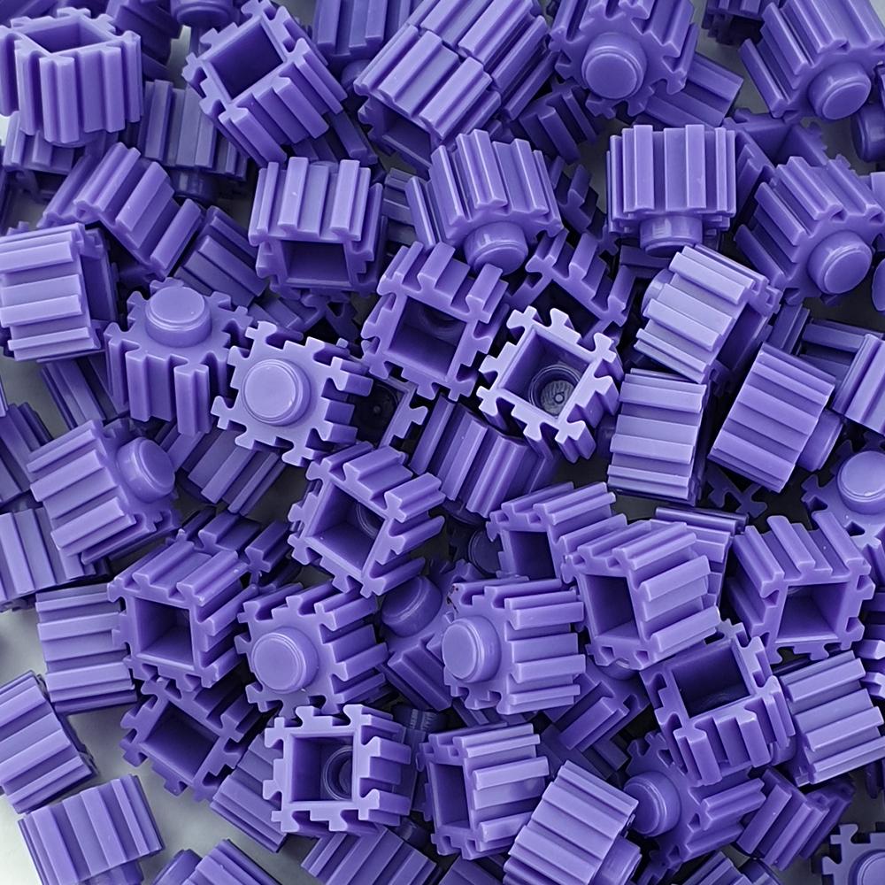 퍼즐블럭 8mm 보라색 500개