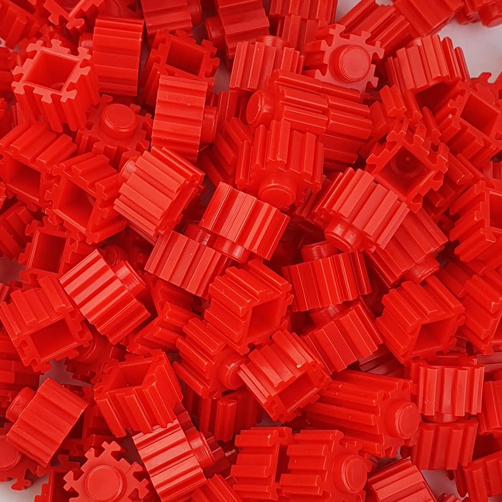 퍼즐블럭 8mm 빨간색 500개