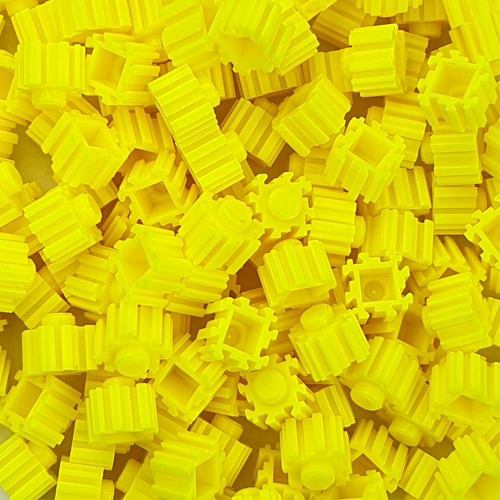 퍼즐블럭 8mm 형광노랑색 500개