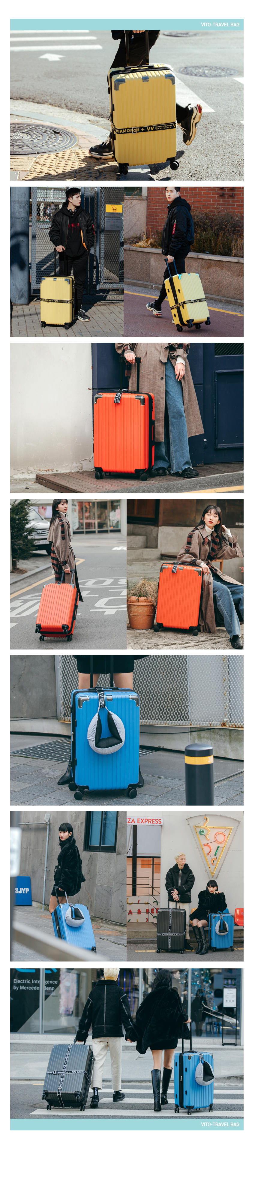 비아모노 VAIF 9037 블루 30인치 하드캐리어 여행가방 - 꼬뱅, 198,000원, 하드형, 기내용(20형) 이하