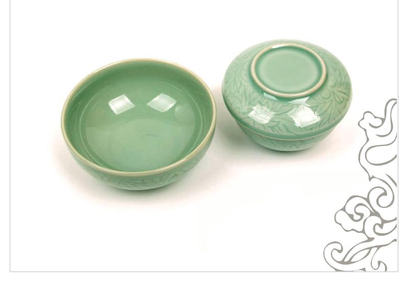 강진탐진청자 청자양각 당초문 반상기 소개