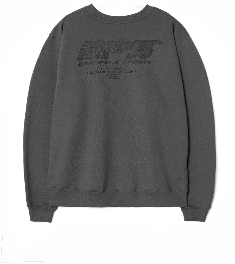 빈폴 스포츠(BEANPOLE SPORT) [BPS X CRITIC] 19FW Washed Logo Print Sweatshirt_Grey