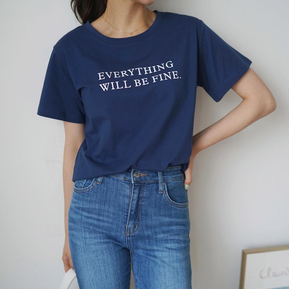 캐주얼룩 레터링 반팔 영문 티셔츠