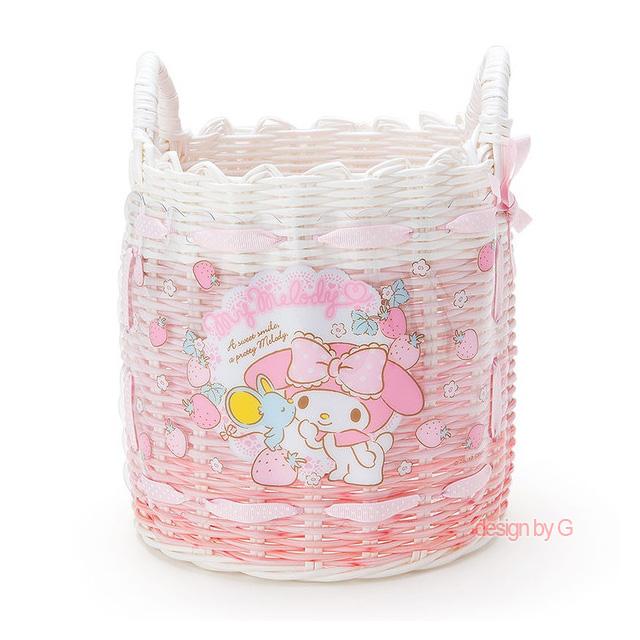 마이멜로디마이멜로디 원형 소품바구니(핑크딸기)(일) 소품함