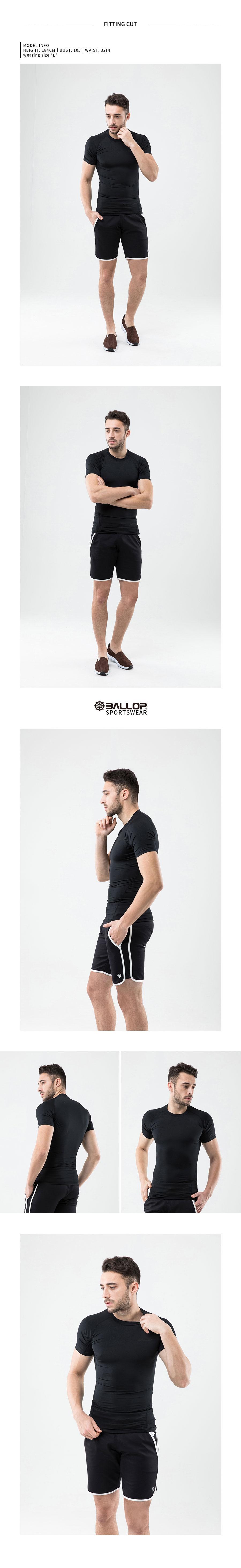 밸롭(BALLOP) [BALLOP] 밸롭 남성 기능성 언더레이어 숏 /스포츠웨어/운동복/헬스복