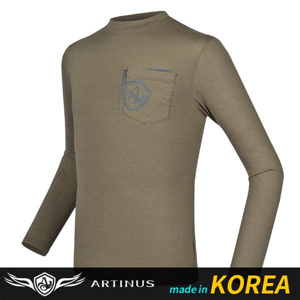 ((아티누스)) 포켓라운드티셔츠 AT-690K