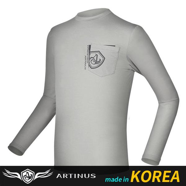아티누스/ 포켓라운드티셔츠 AT-690MG