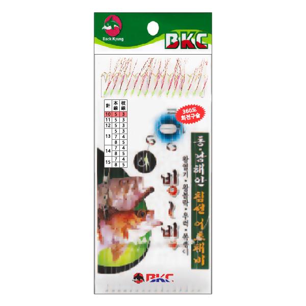 백경조침/ 침선어초외줄채비 15본 반짝이 BK-339