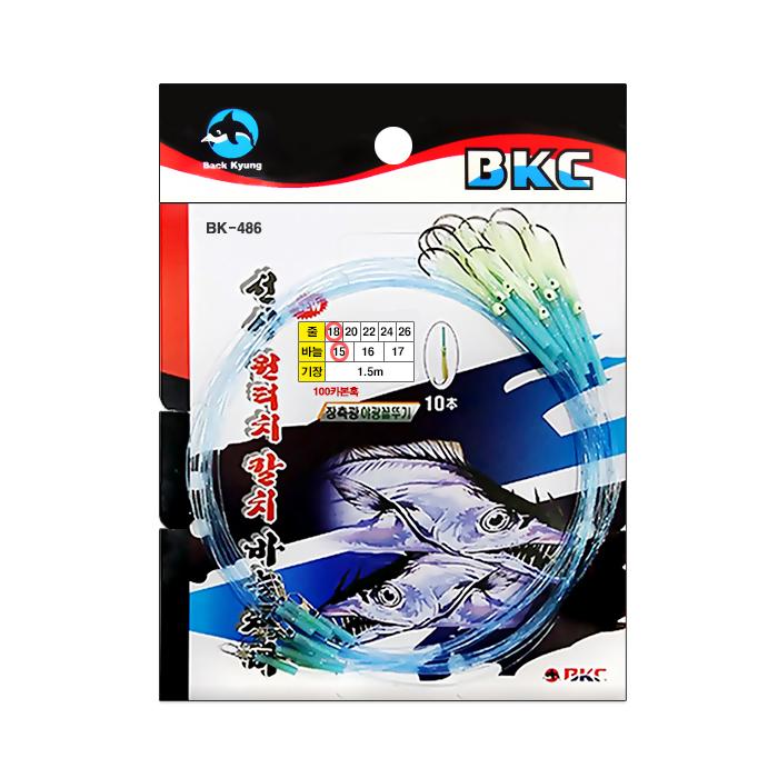 백경조침/ BK-486 원터치장축광꼴뚜기 (형광)