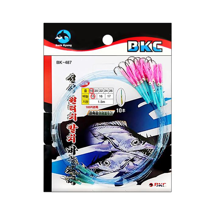 백경조침/ BK-487 원터치장축광꼴뚜기 (분홍)