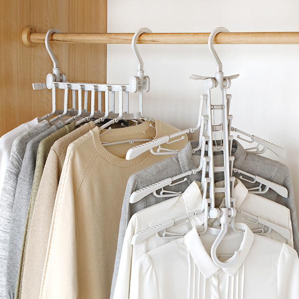 [맑은생활] 고백옷걸이 6단