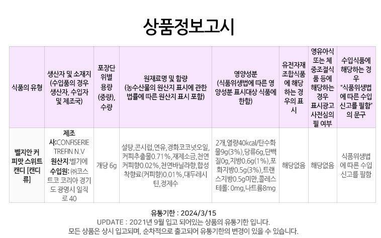 졸지말고 커피캔디 - 미스타이니, 2,000원, 합격기원 기프트, 수능 기프트