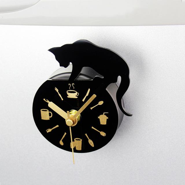 고양이 미니 자석 시계(인테리어 시계/냉장고 시계)