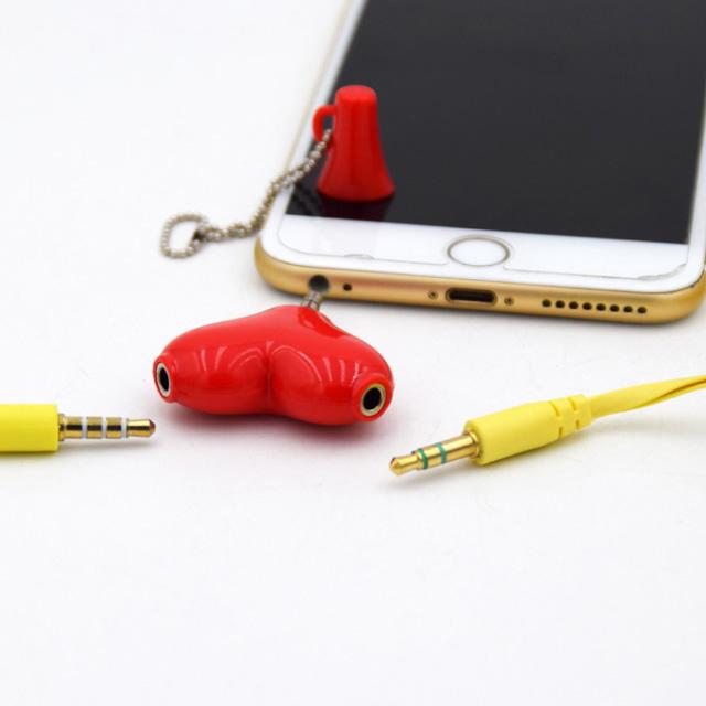 하트 듀얼 3.5이어폰 단지(Y잭/커플잭/이어폰 분배기)