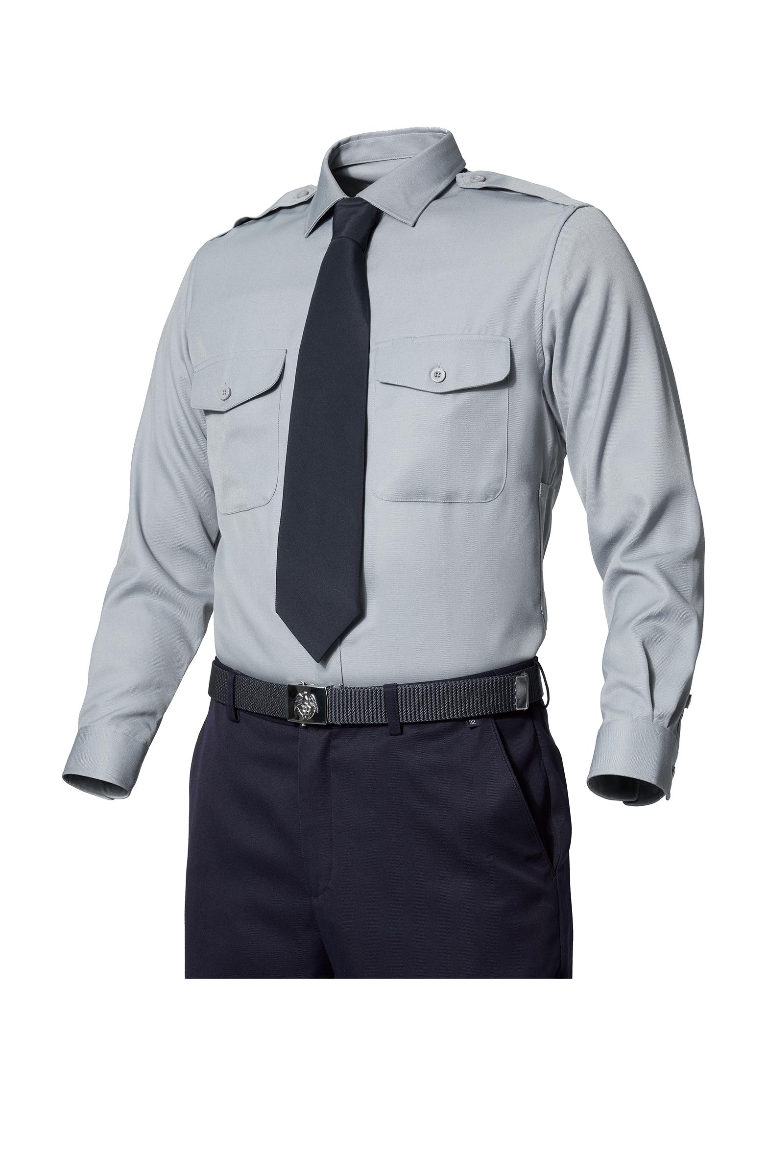 ZB-Y1044 (라이트 그레이)지벤 추동 경비복 셔츠