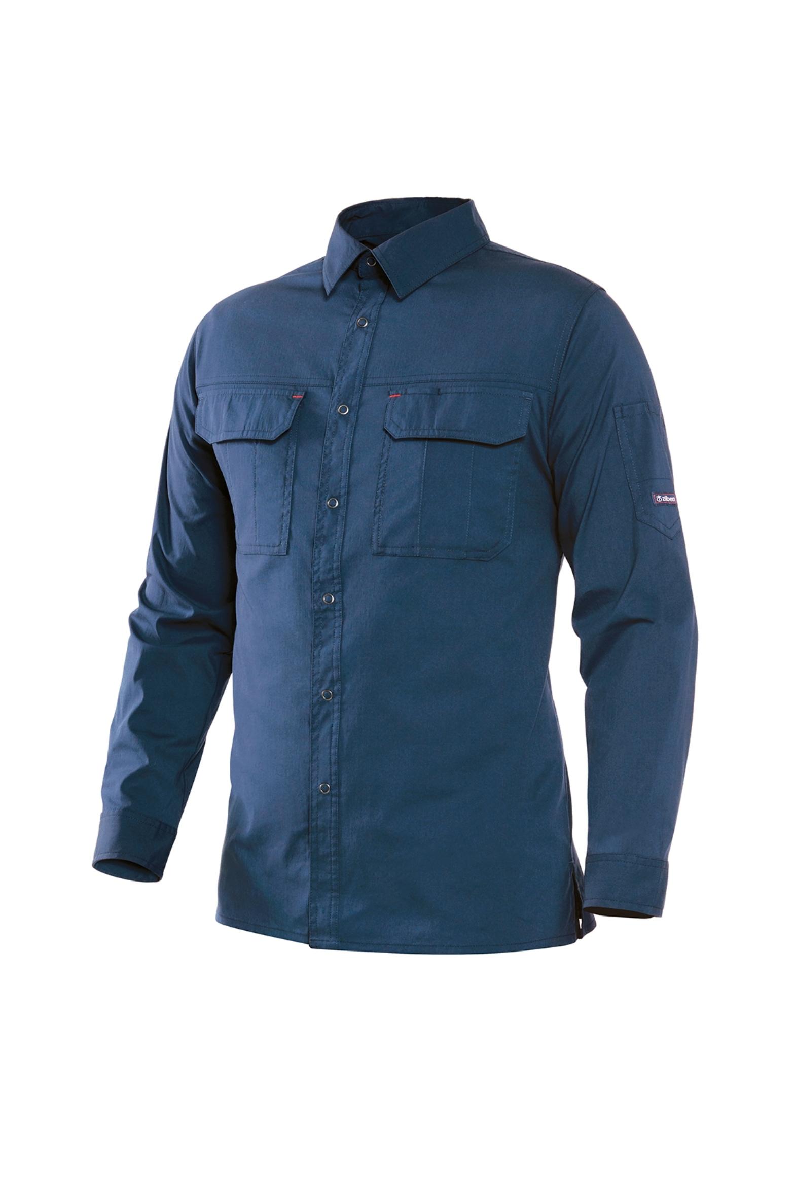 ZB-Y1641(네이비)지벤 스판 남방 셔츠