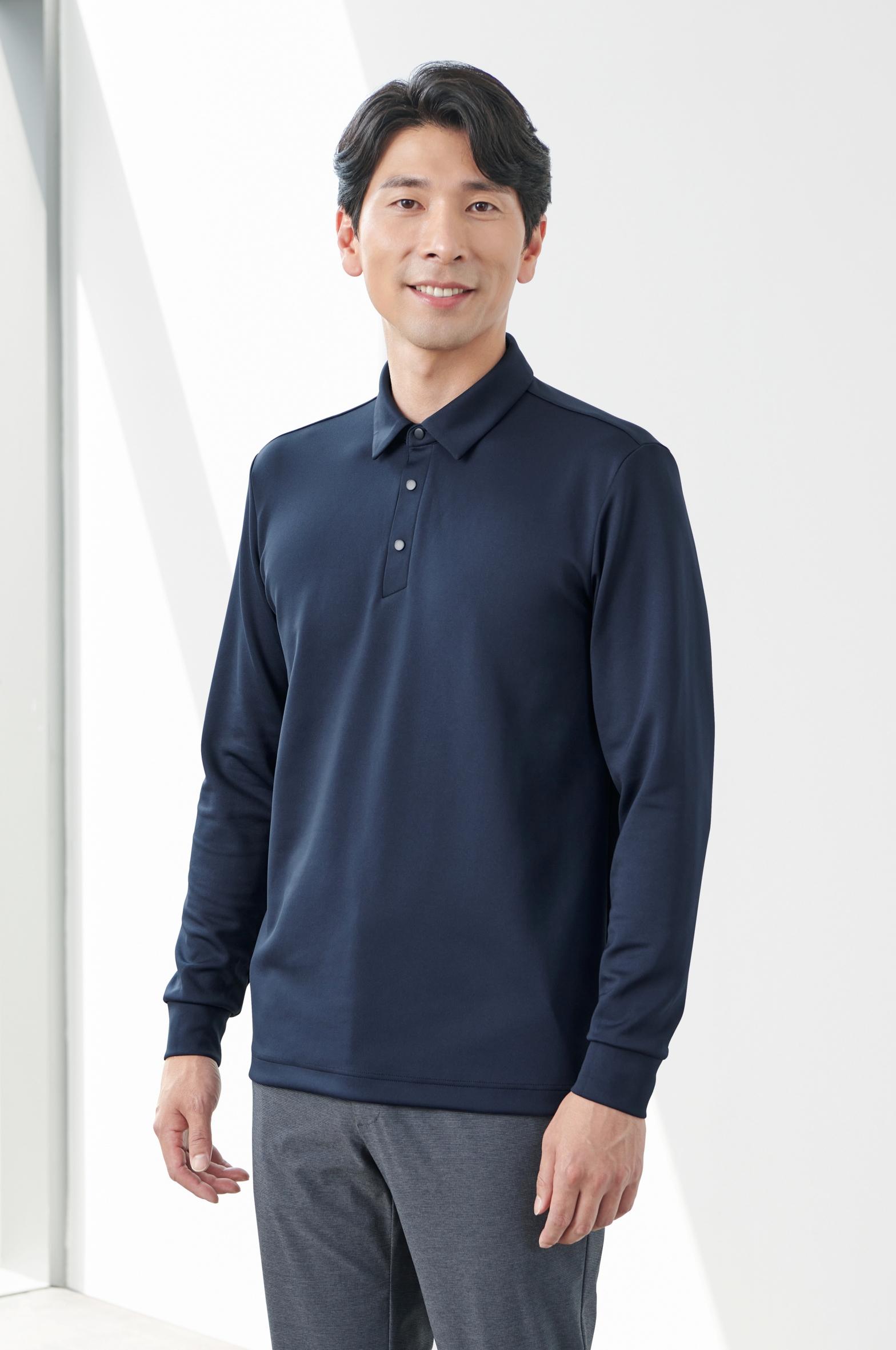ZB-T2171(DRAK NAVY)지벤 간절기 긴팔 티셔츠