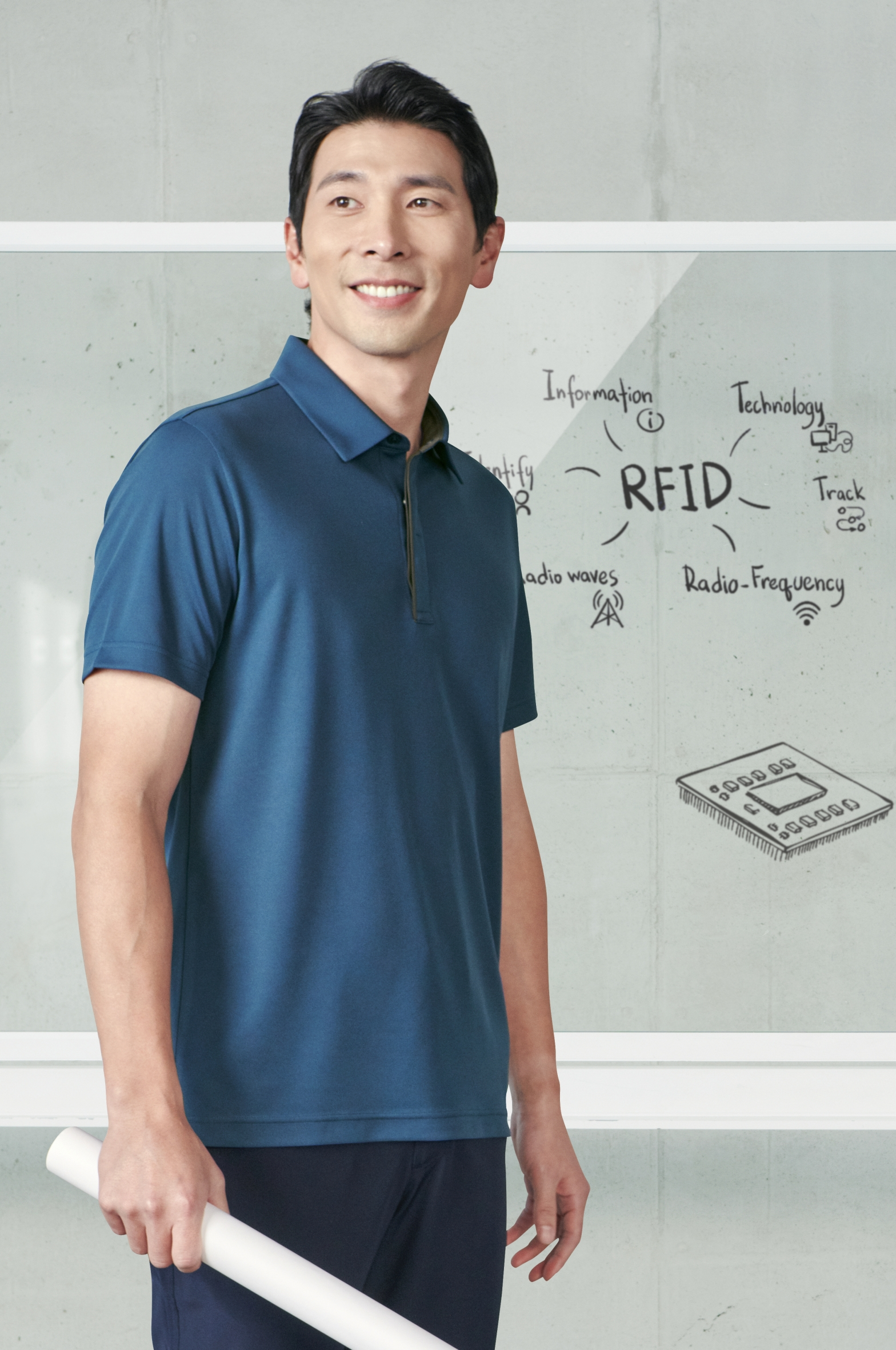 ZB-T2137(그레이블루/제전)지벤 반팔 티셔츠